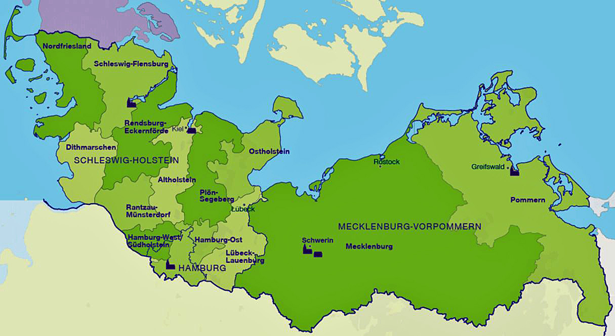 Norddeutschland Karte